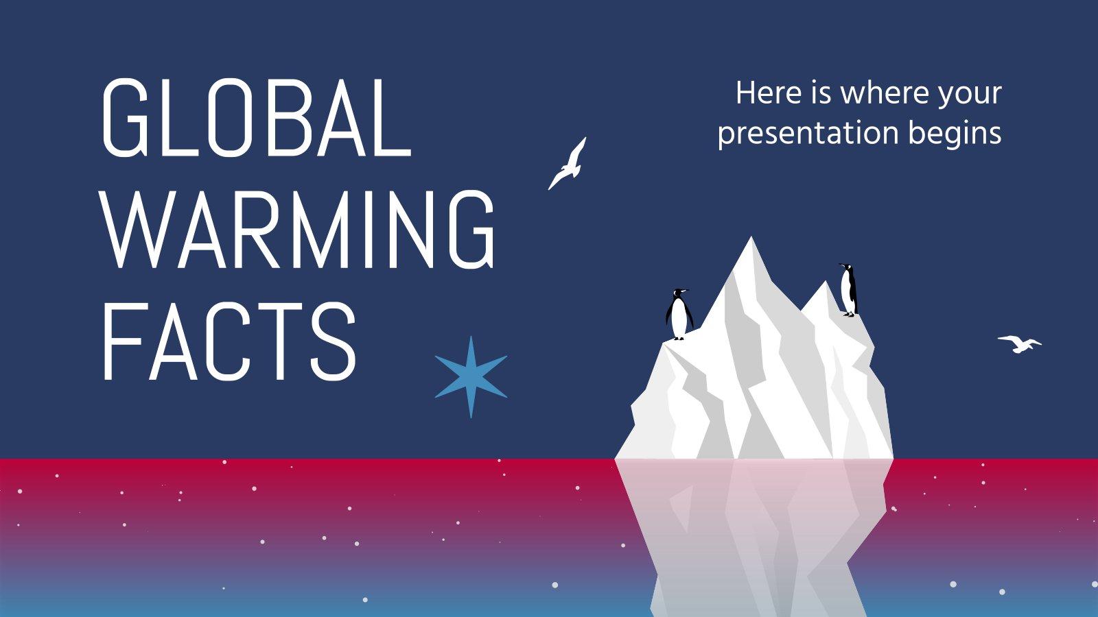 Fakten über die globale Erwärmung Präsentationsvorlage