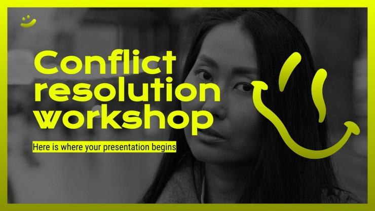 Konfliktlösungs-Workshop Präsentationsvorlage