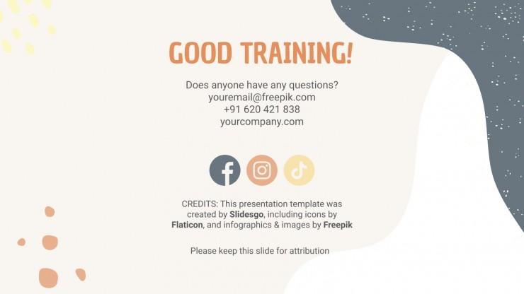 Modelo de apresentação Seu plano de treinamento