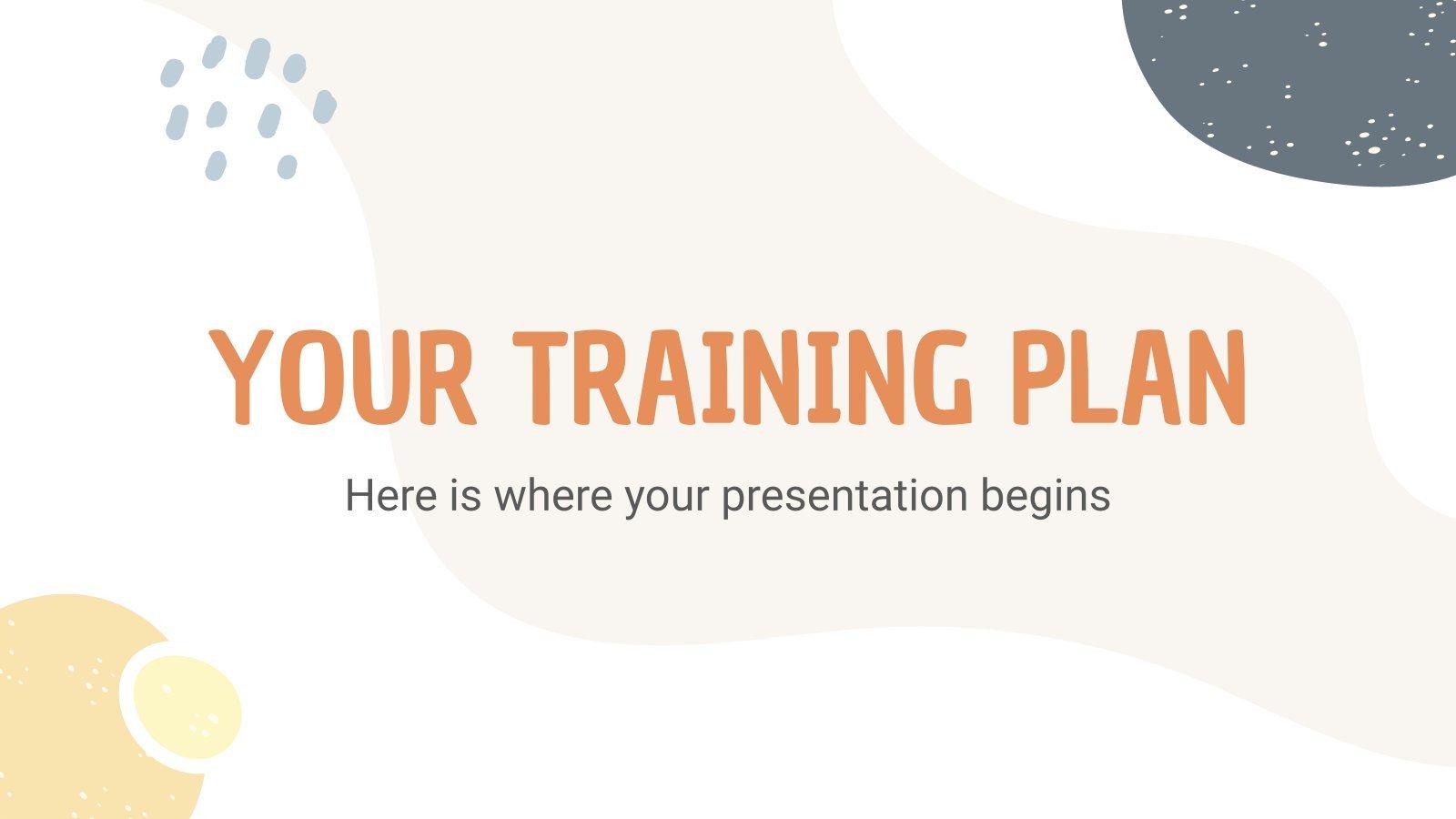 Dein Trainingsplan Präsentationsvorlage