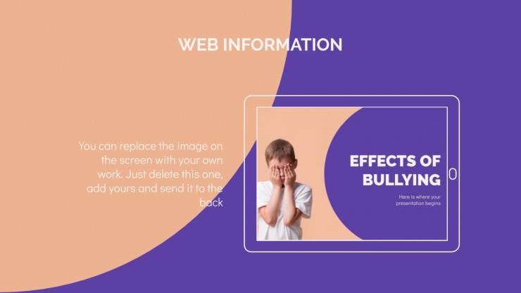Plantilla de presentación Efectos del bullying