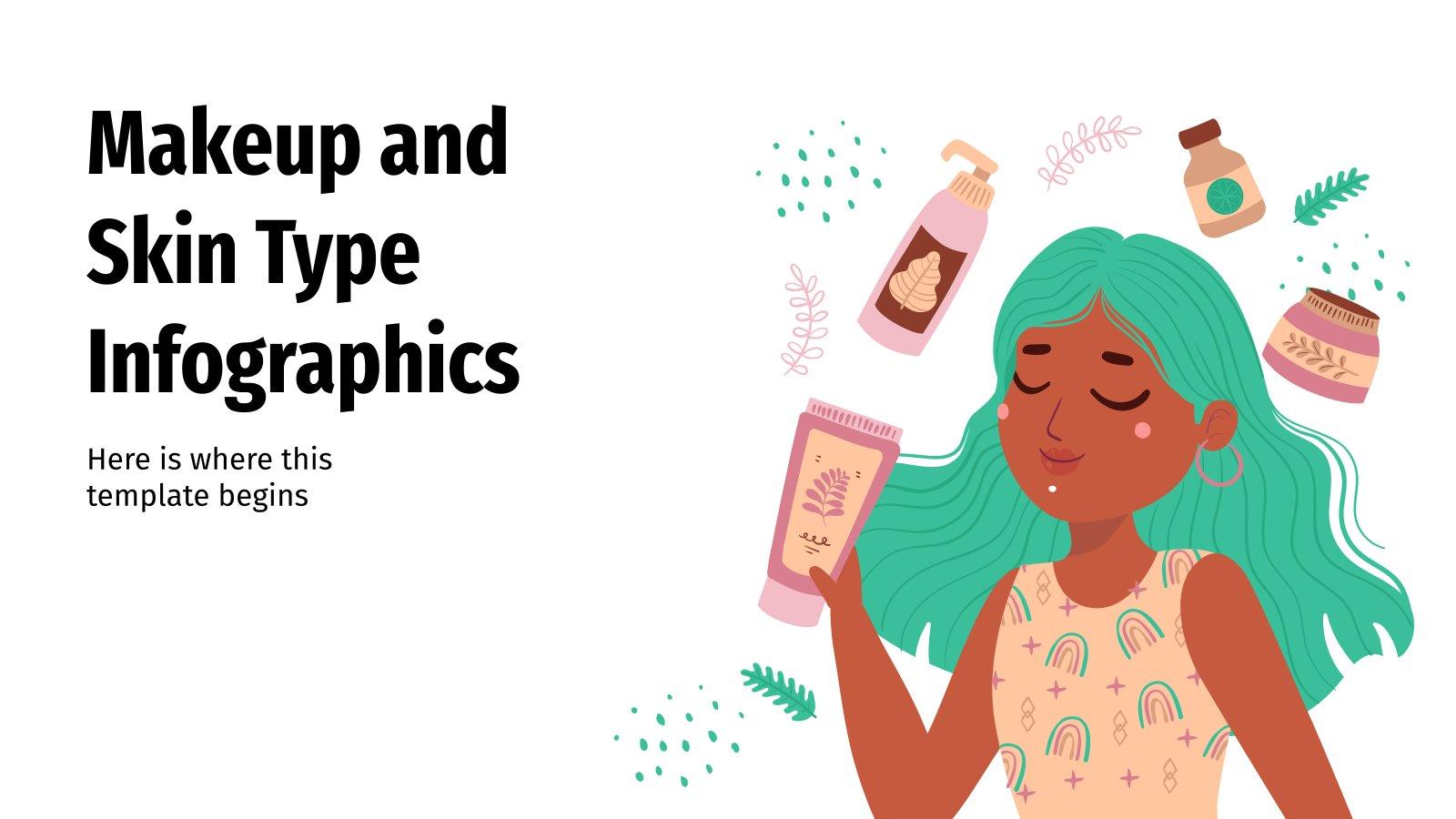 Makeup & Skin Type Infographics presentation template