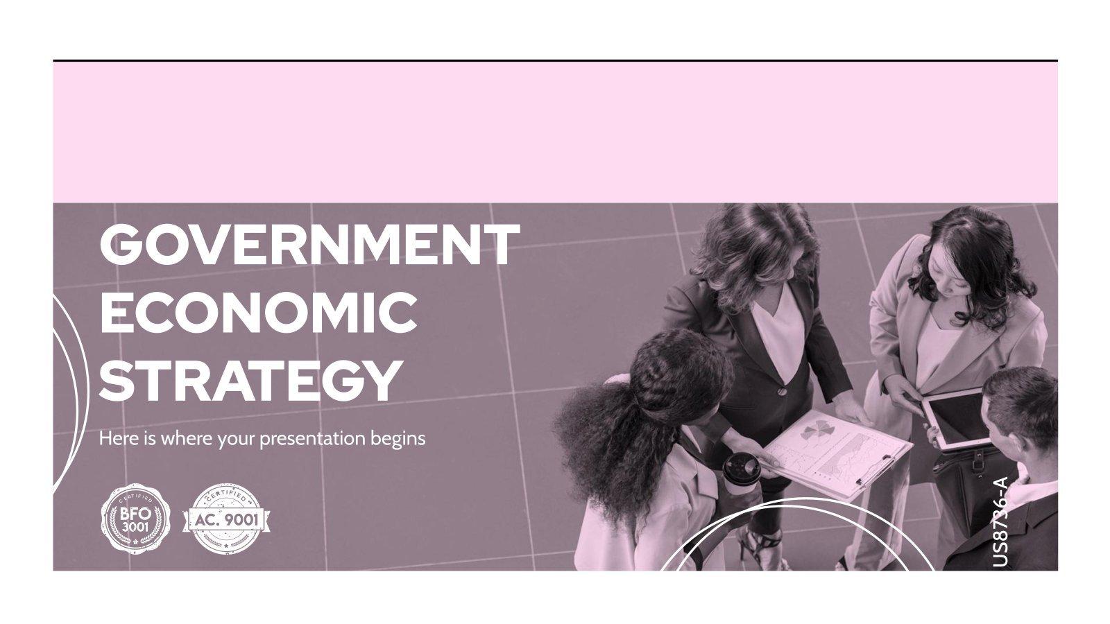 Plantilla de presentación Estrategia económica del Gobierno