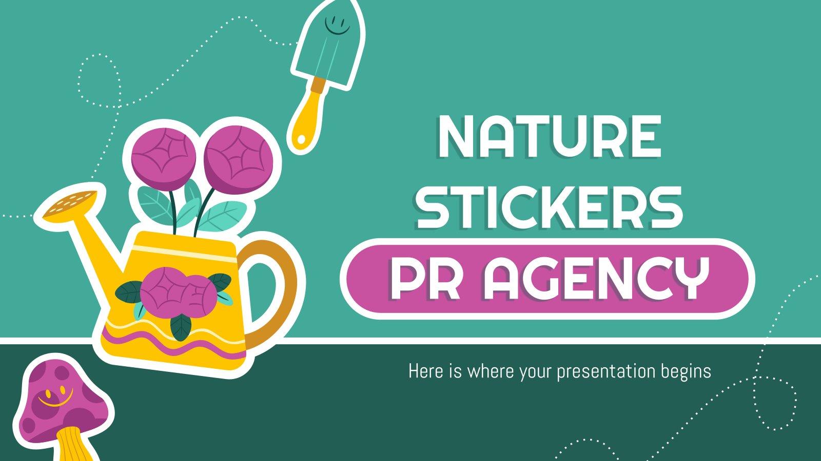 Natur Aufkleber PR Agentur Präsentationsvorlage
