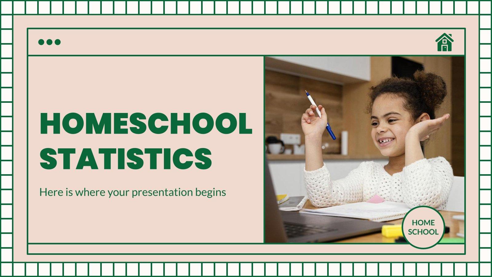 Homeschool Statistiken Präsentationsvorlage