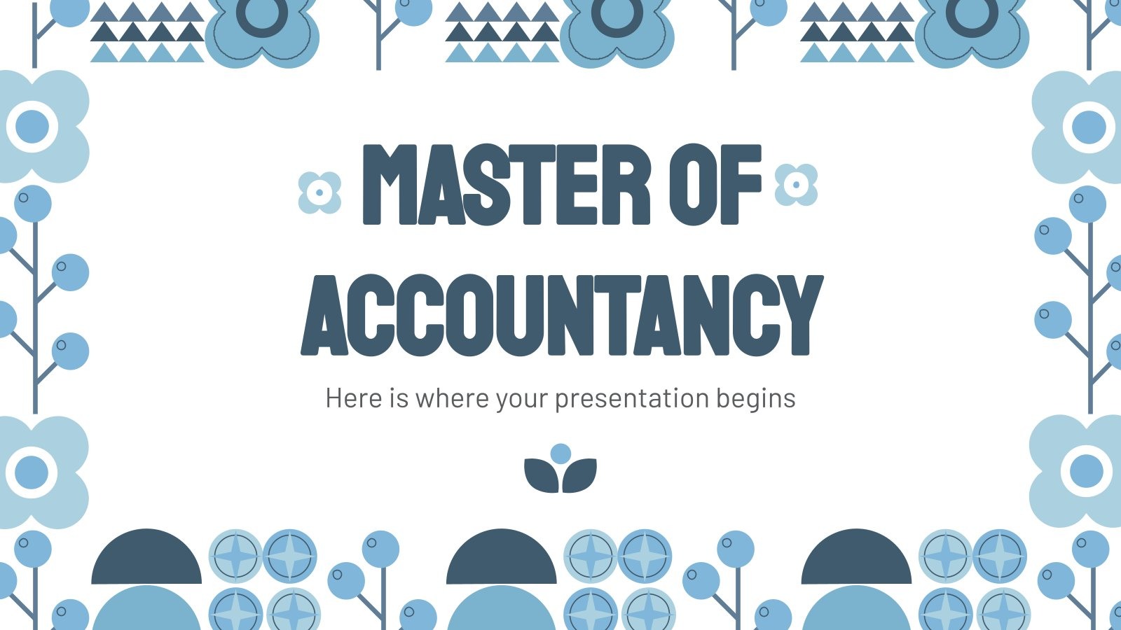 Master of Accountancy presentation template