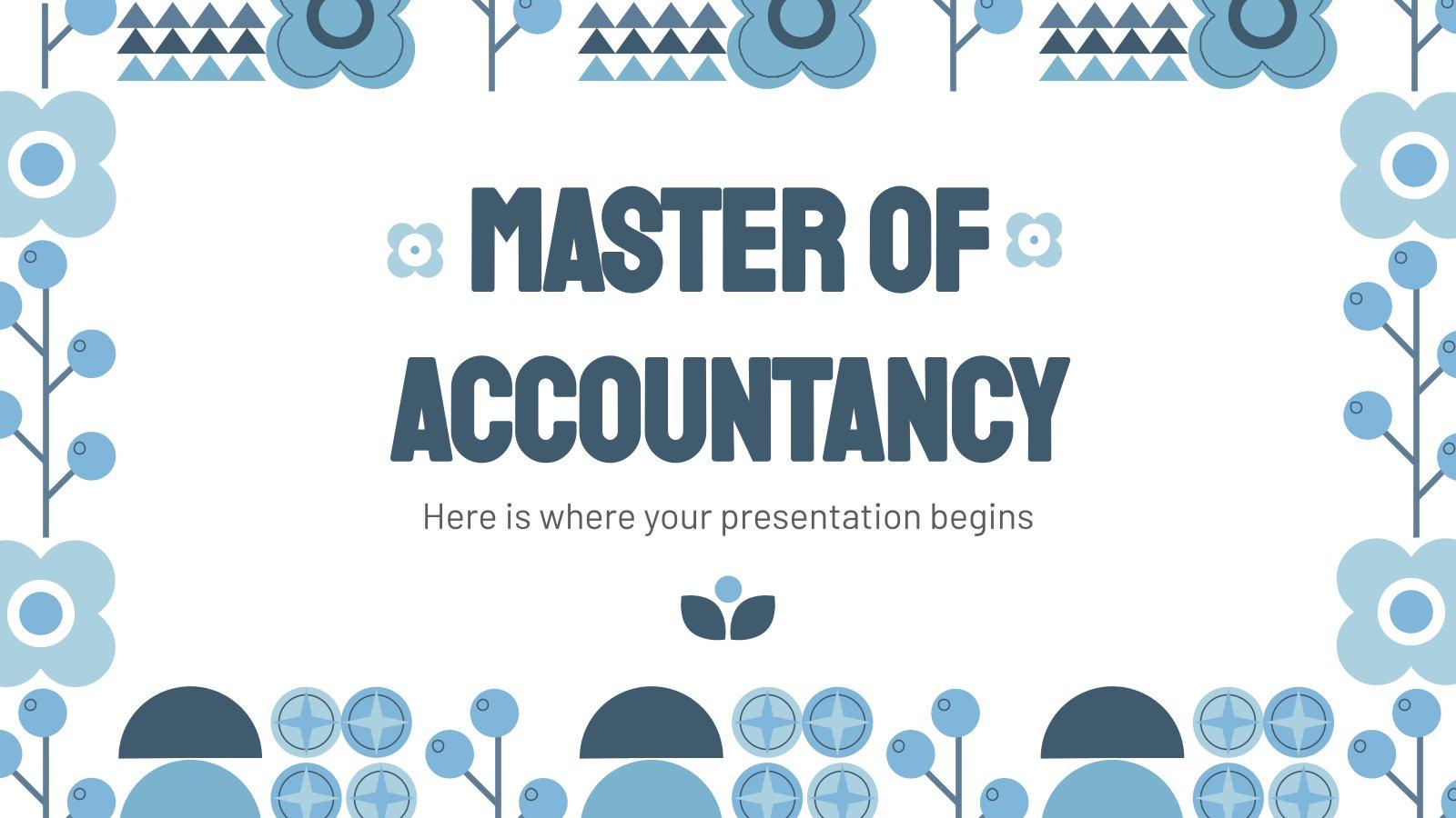 Rechnungswesen Master Präsentationsvorlage