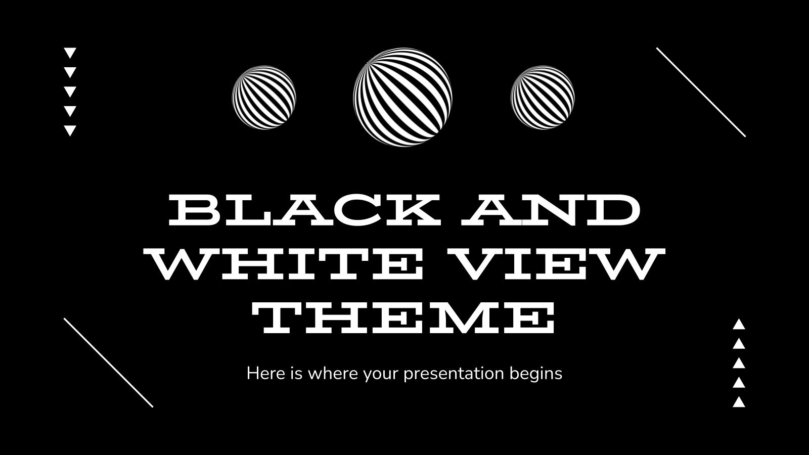 Schwarz-Weiß-Ansicht Thema Präsentationsvorlage