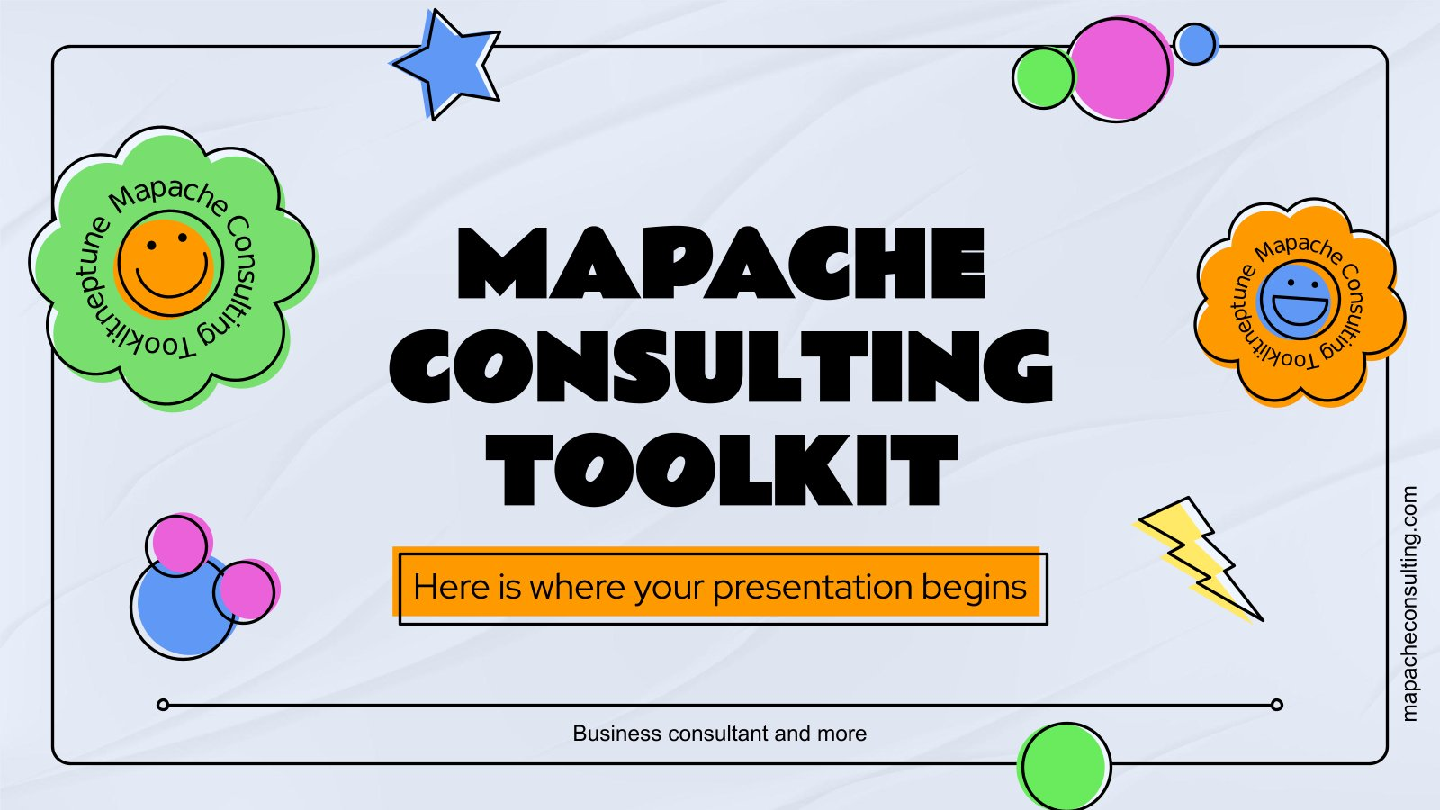 Mapache Consulting Toolkit presentation template