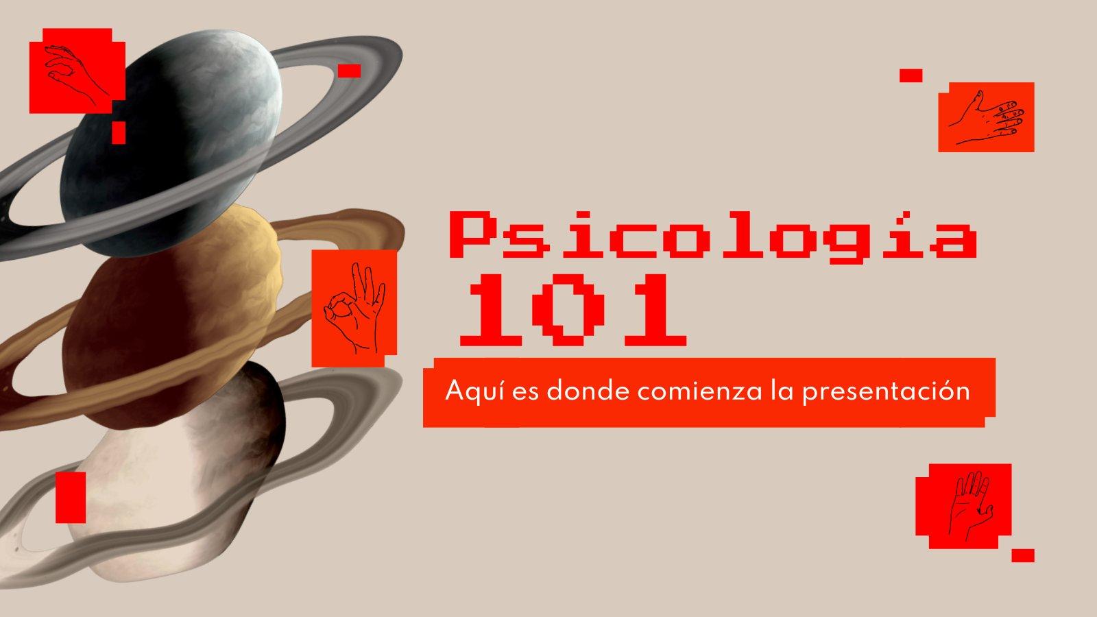 Psicología 101 presentation template