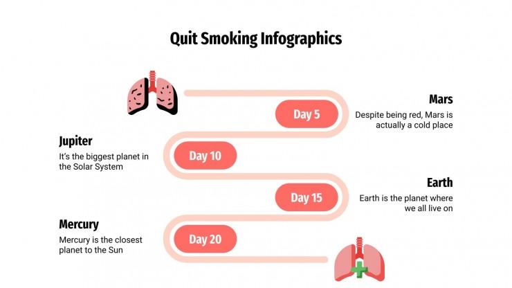 Quit Smoking Infographics presentation template