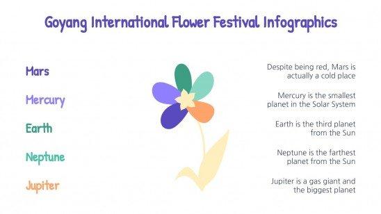 Goyang International Flower Festival Infographics presentation template