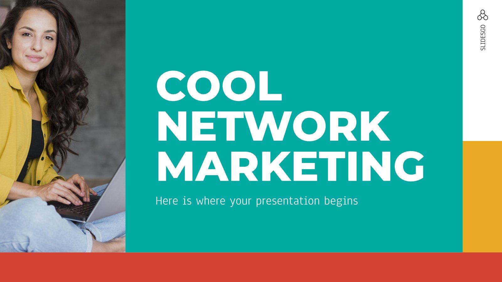Design cool pour le marketing à paliers multiples : Modèles de présentation