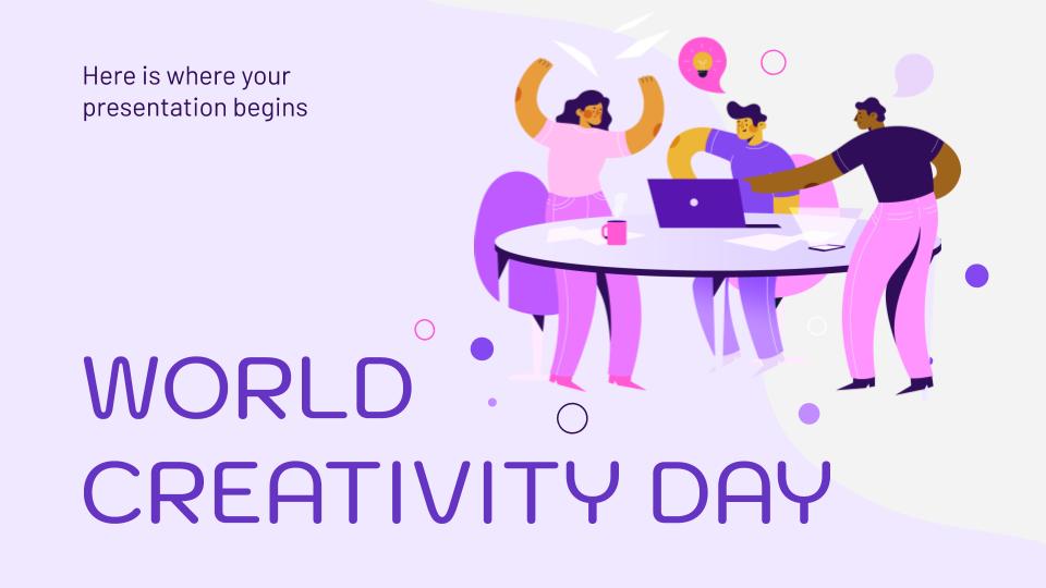 Welttag der Kreativität Präsentationsvorlage