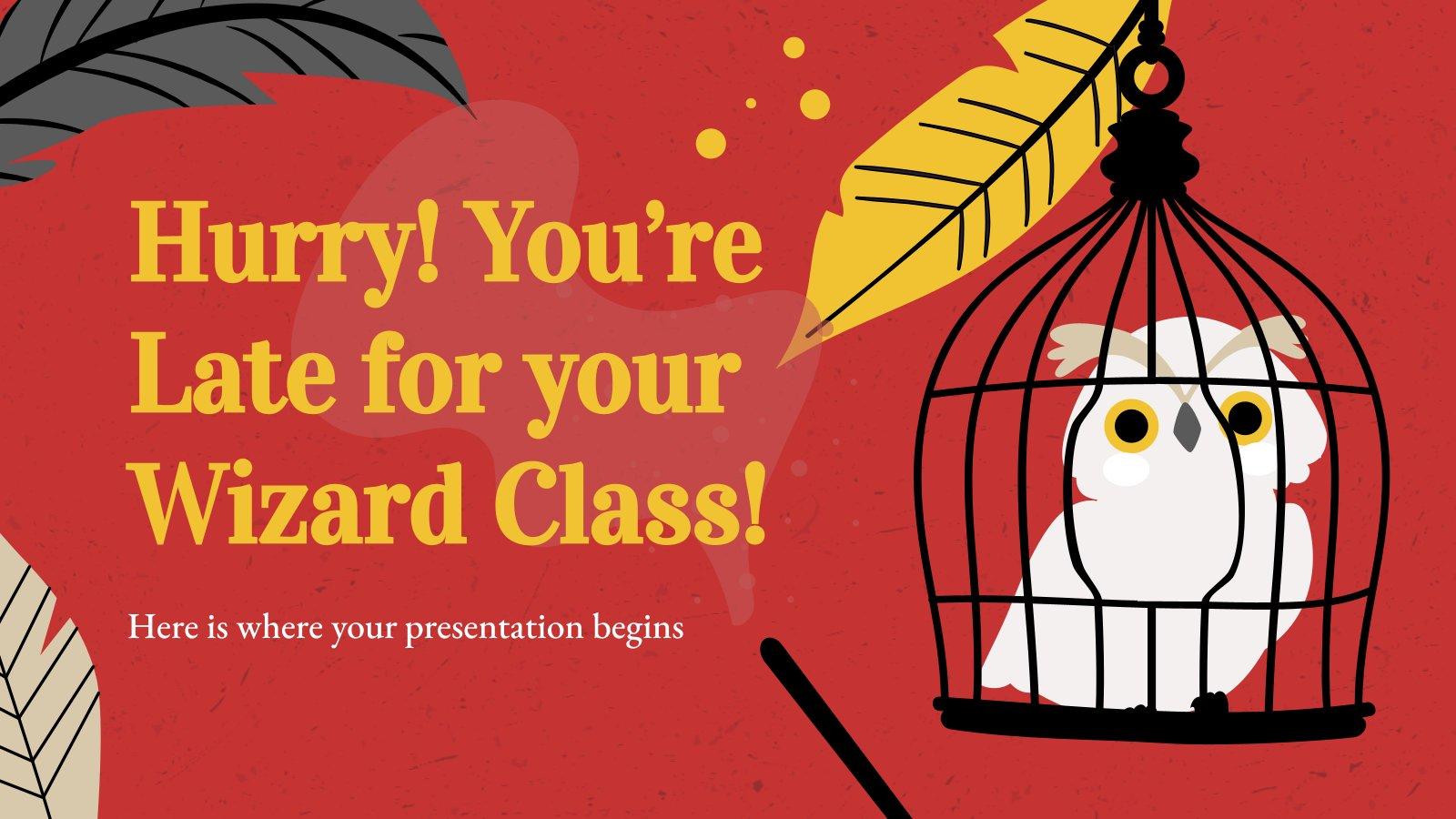 Modelo de apresentação Você chega tarde para sua aula de feitiçaria!