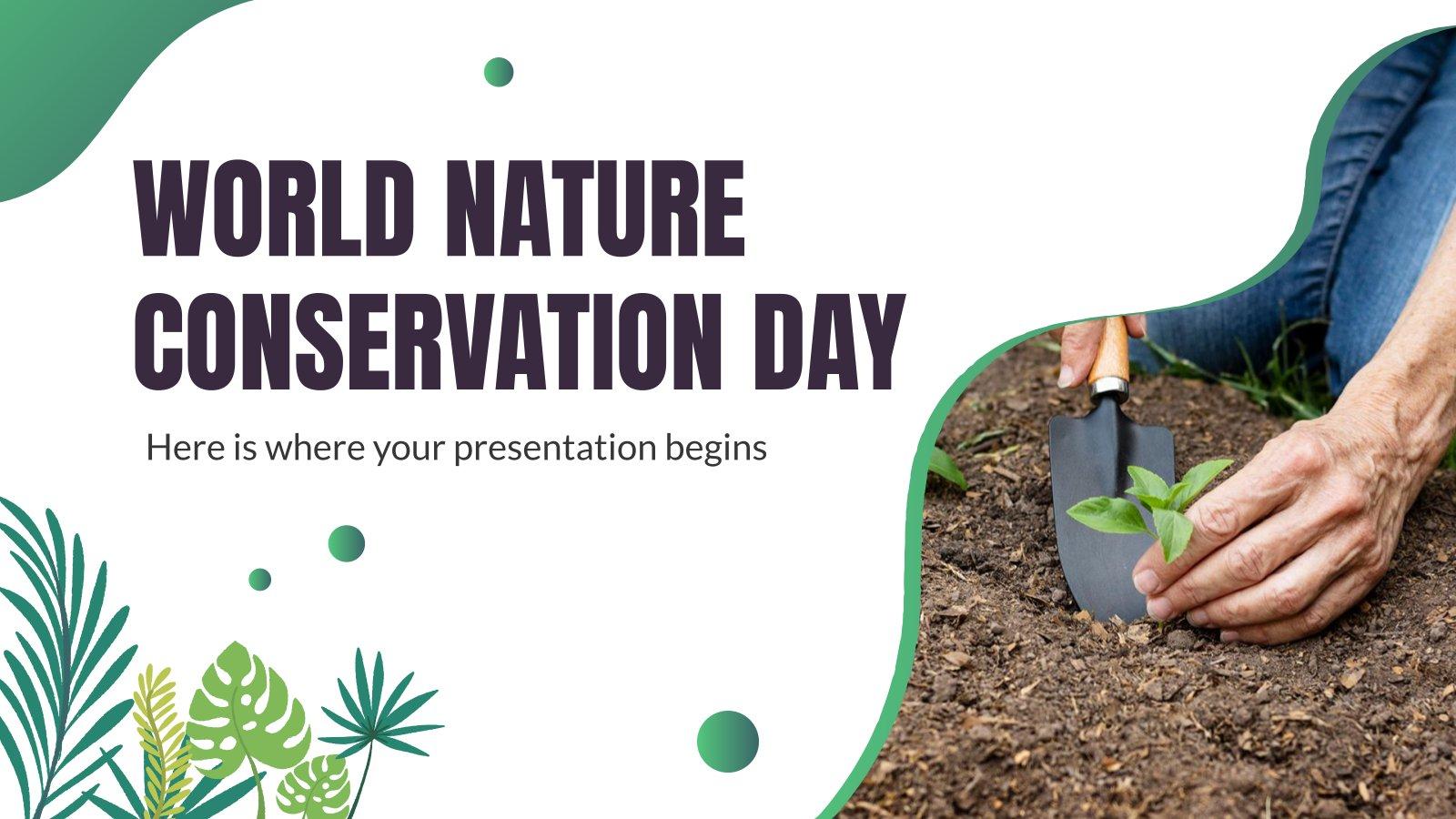 Modelo de apresentação Dia Mundial da Conservação da Natureza