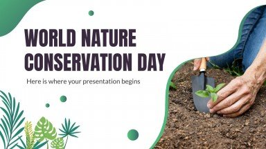 World Nature Conservation Day presentation template
