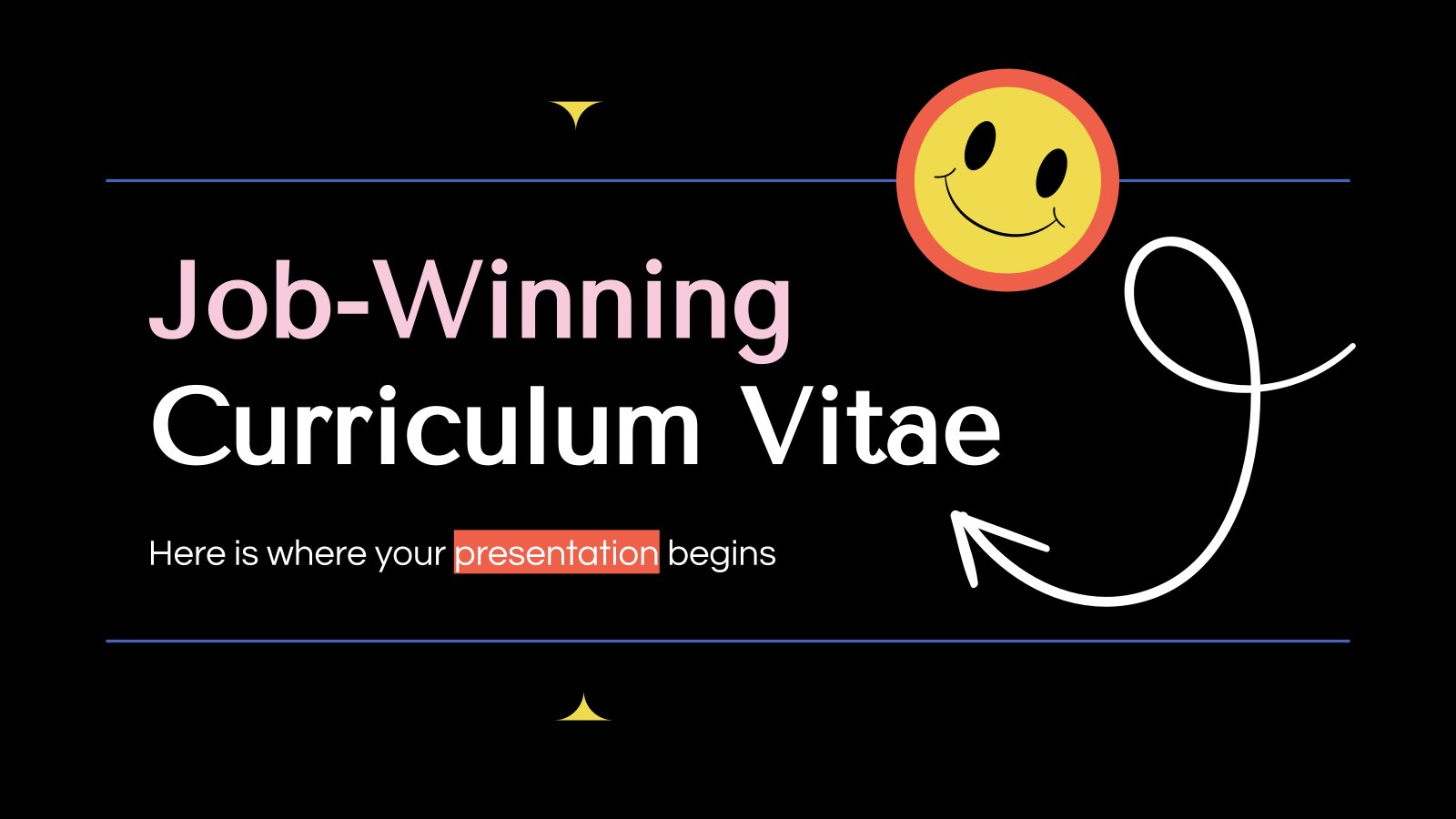 Job-Winning Curriculum Vitae presentation template