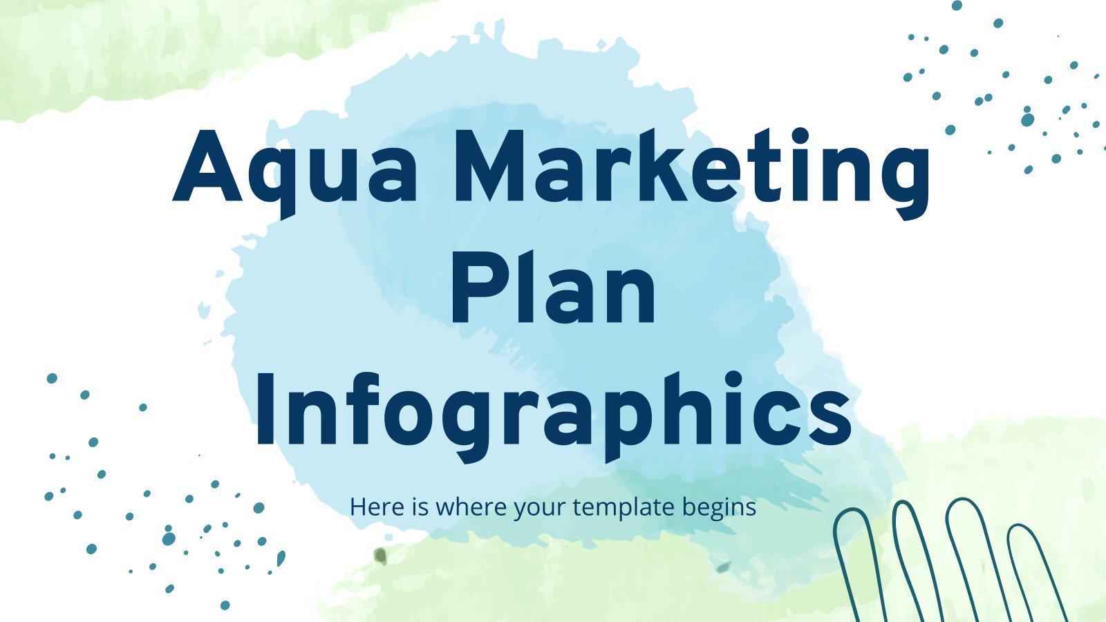 Aqua Marketing Plan Infographics presentation template