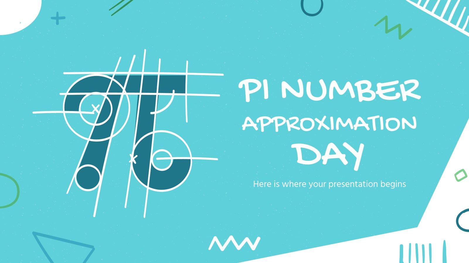 Journée de l'approximation de Pi : Modèles de présentation