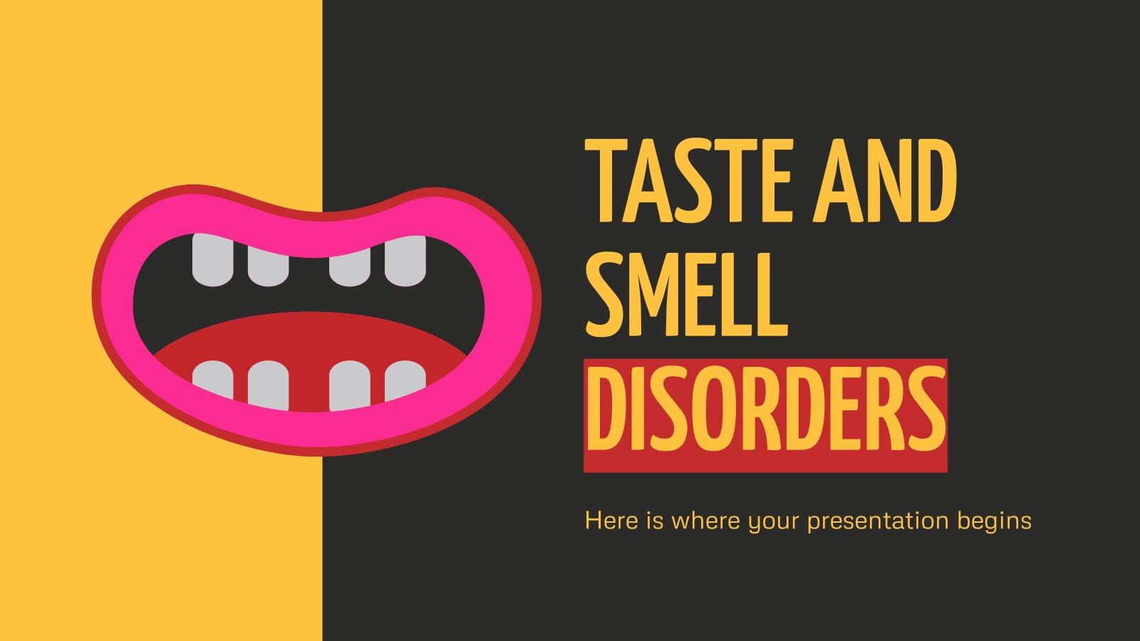 Taste & Smell Disorders presentation template