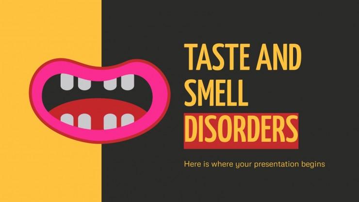 Modelo de apresentação Transtornos do olfato e do paladar