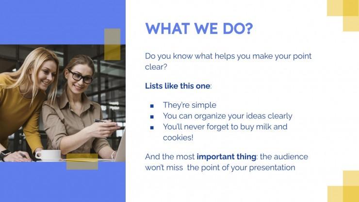 Easy Customizable Mini-Portfolio presentation template