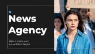 News Agency presentation template