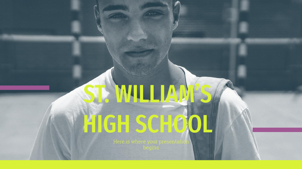 St. William's High School presentation template