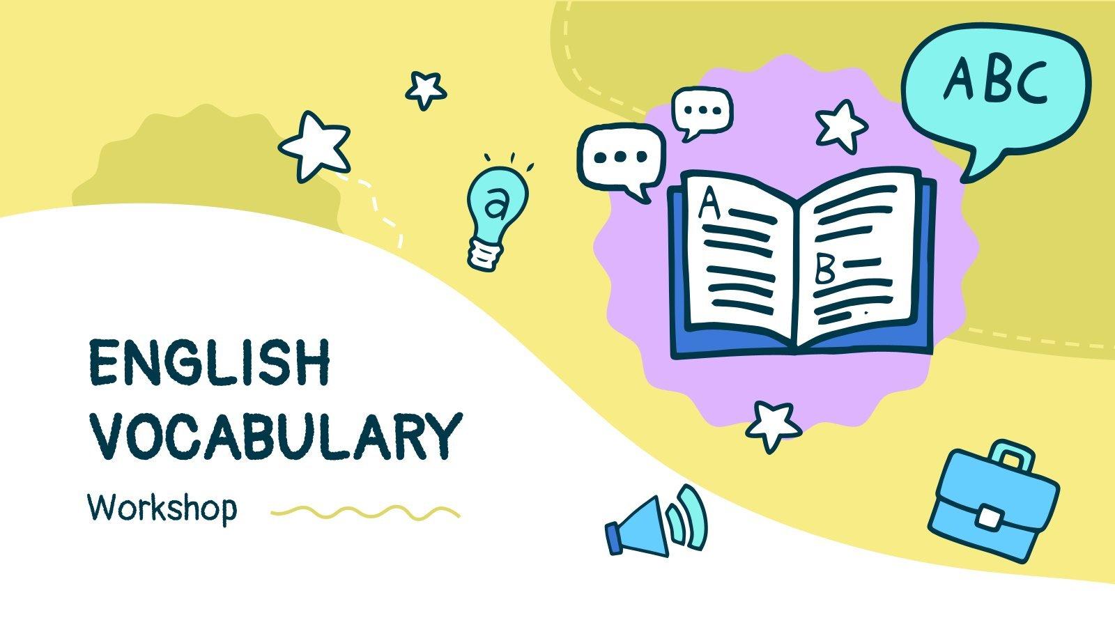 English Vocabulary Workshop presentation template