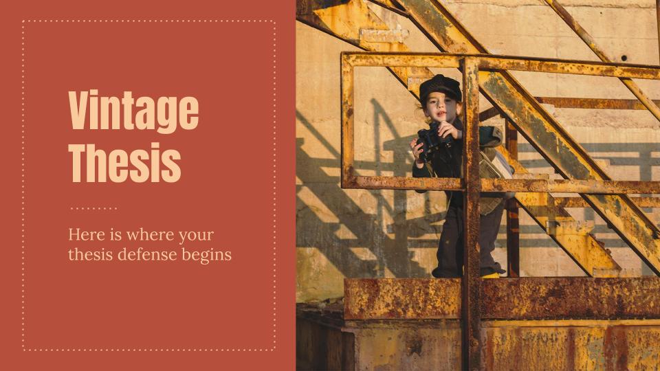 Modelo de apresentação Trabalho de história estilo vintage