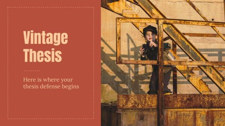 Cours d'histoire vintage : Modèles de présentation