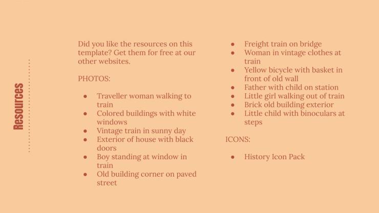 Vintage History Lesson presentation template