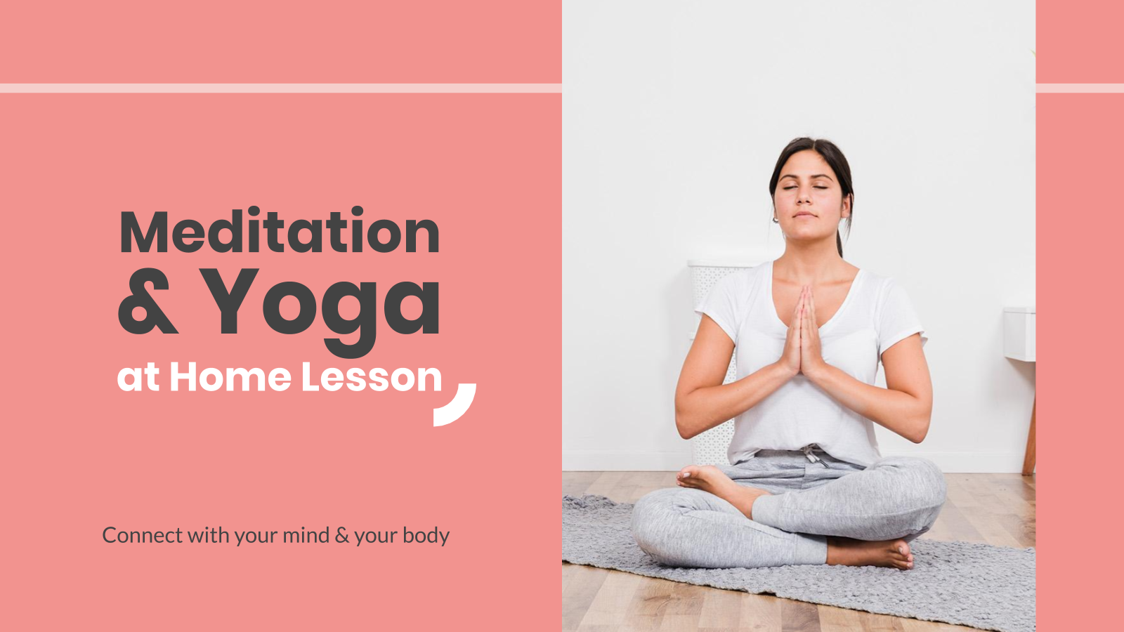 Meditation & Yoga at Home Lesson presentation template