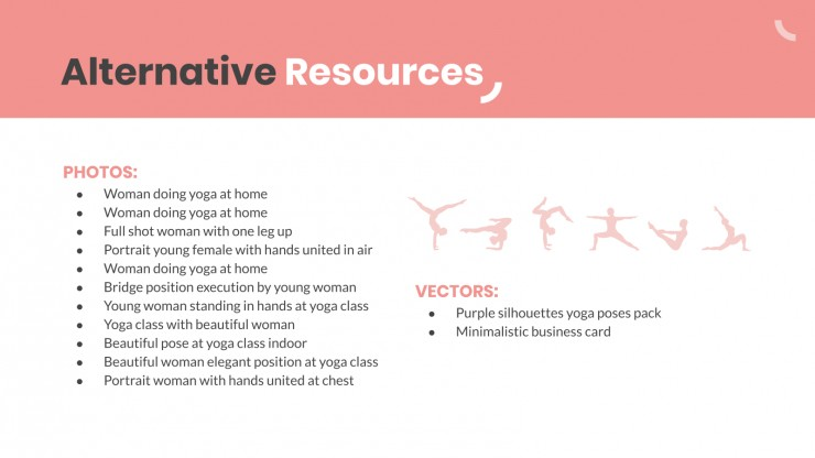 Plantilla de presentación Clase de meditación y yoga en casa