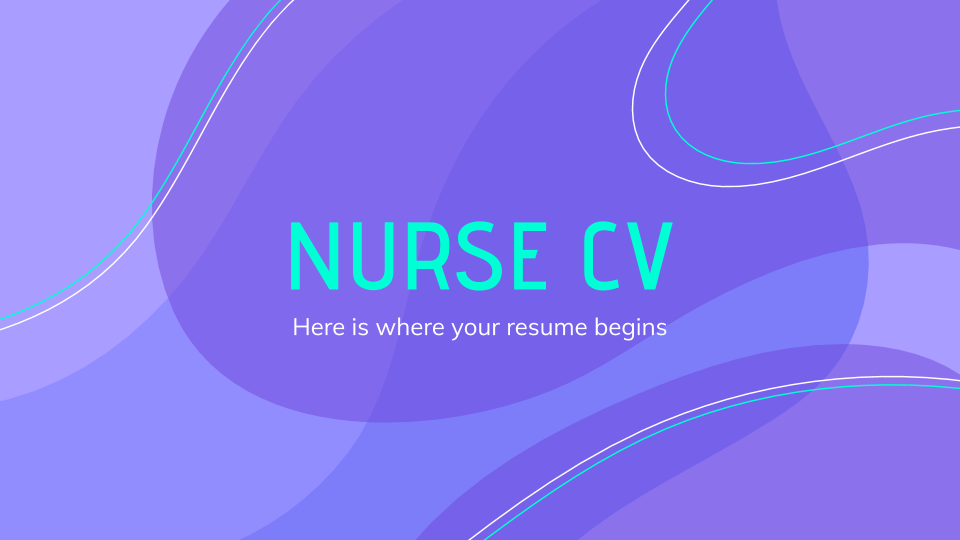 Nurse CV presentation template