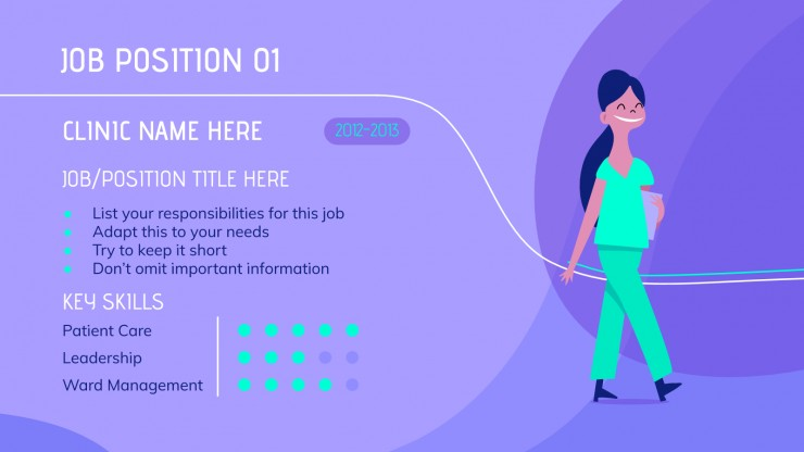 Nurse CV presentation template
