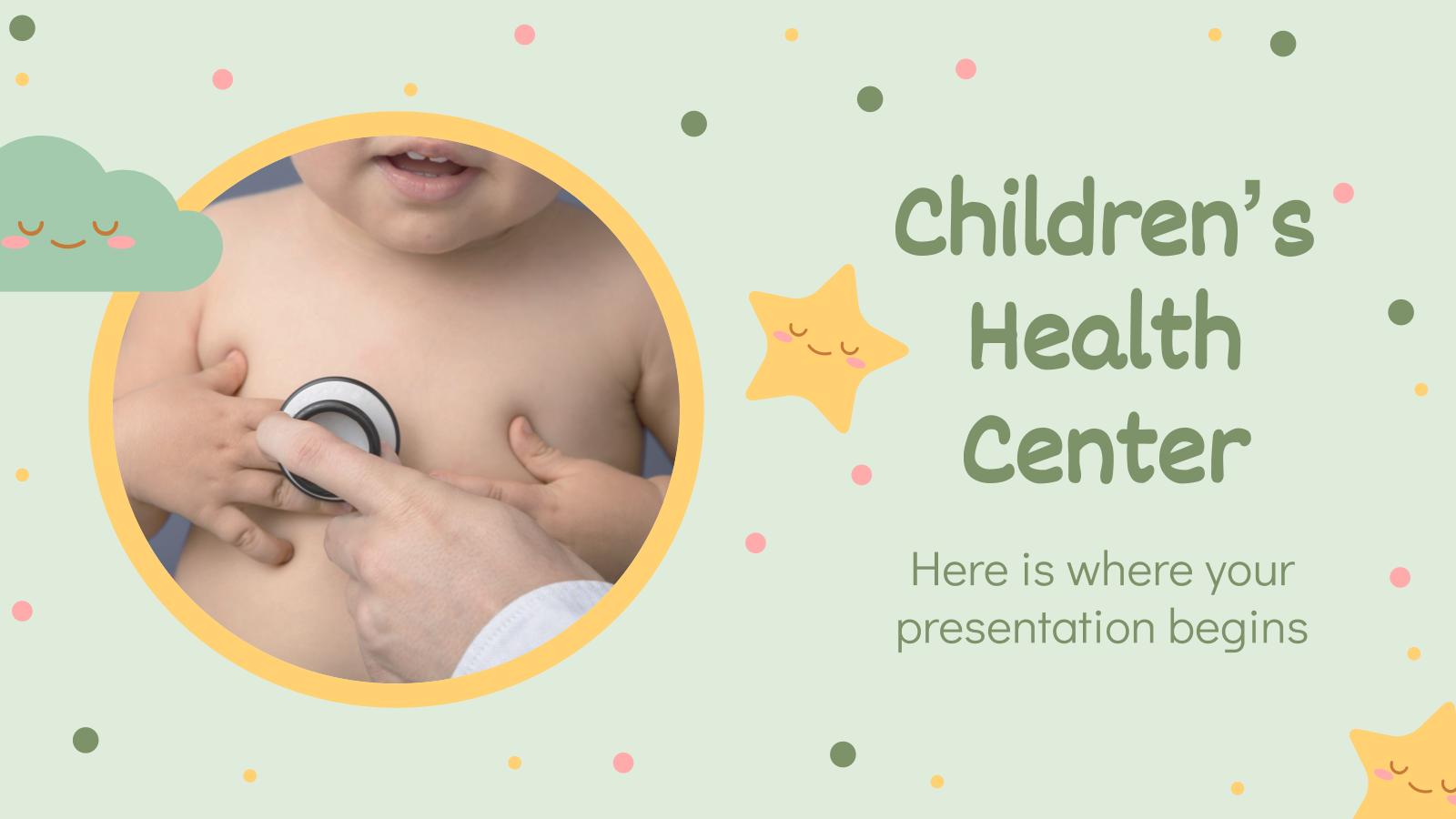 Modelo de apresentação Clínica pediátrica alegre