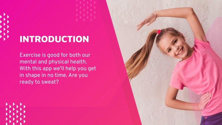 Workout at Home App Pitch Deck presentation template