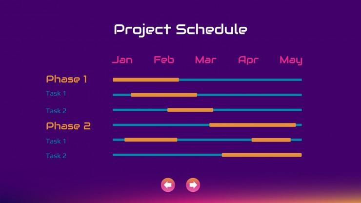 Megame Futuristic Meeting presentation template