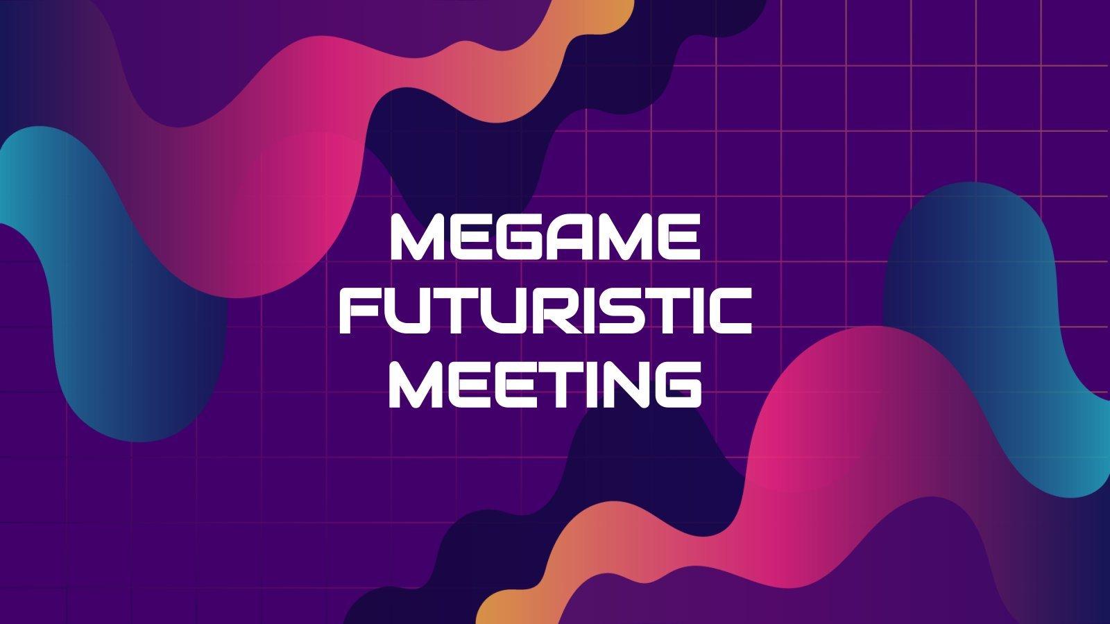 Réunion futuriste Megame : Modèles de présentation