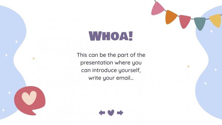 Flippy Cute Tägliche Aktivitäten Präsentationsvorlage