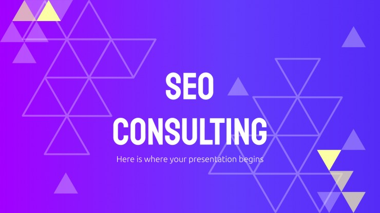 SEO Consulting presentation template