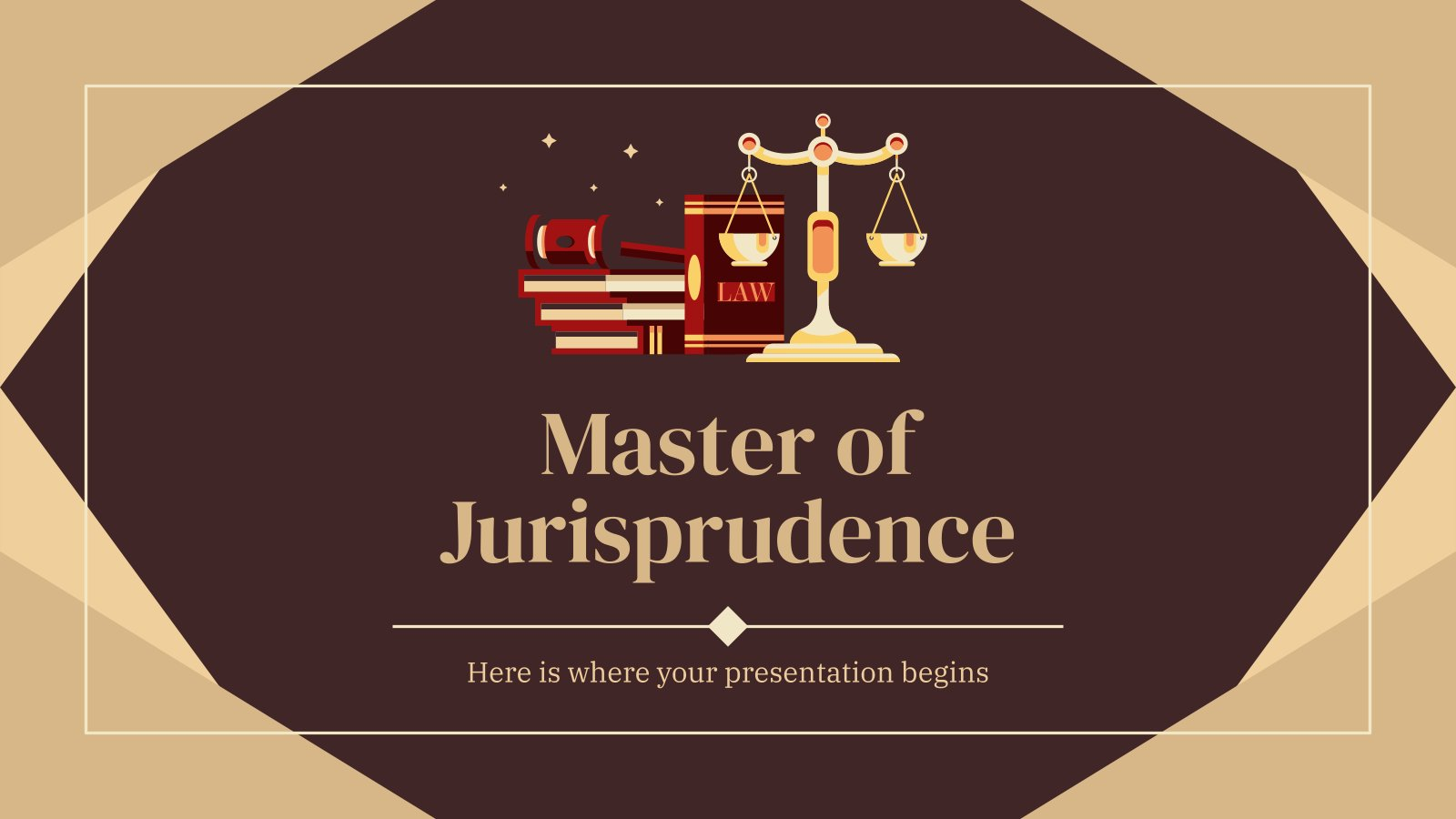 Studiengang in Rechtssprechung Präsentationsvorlage