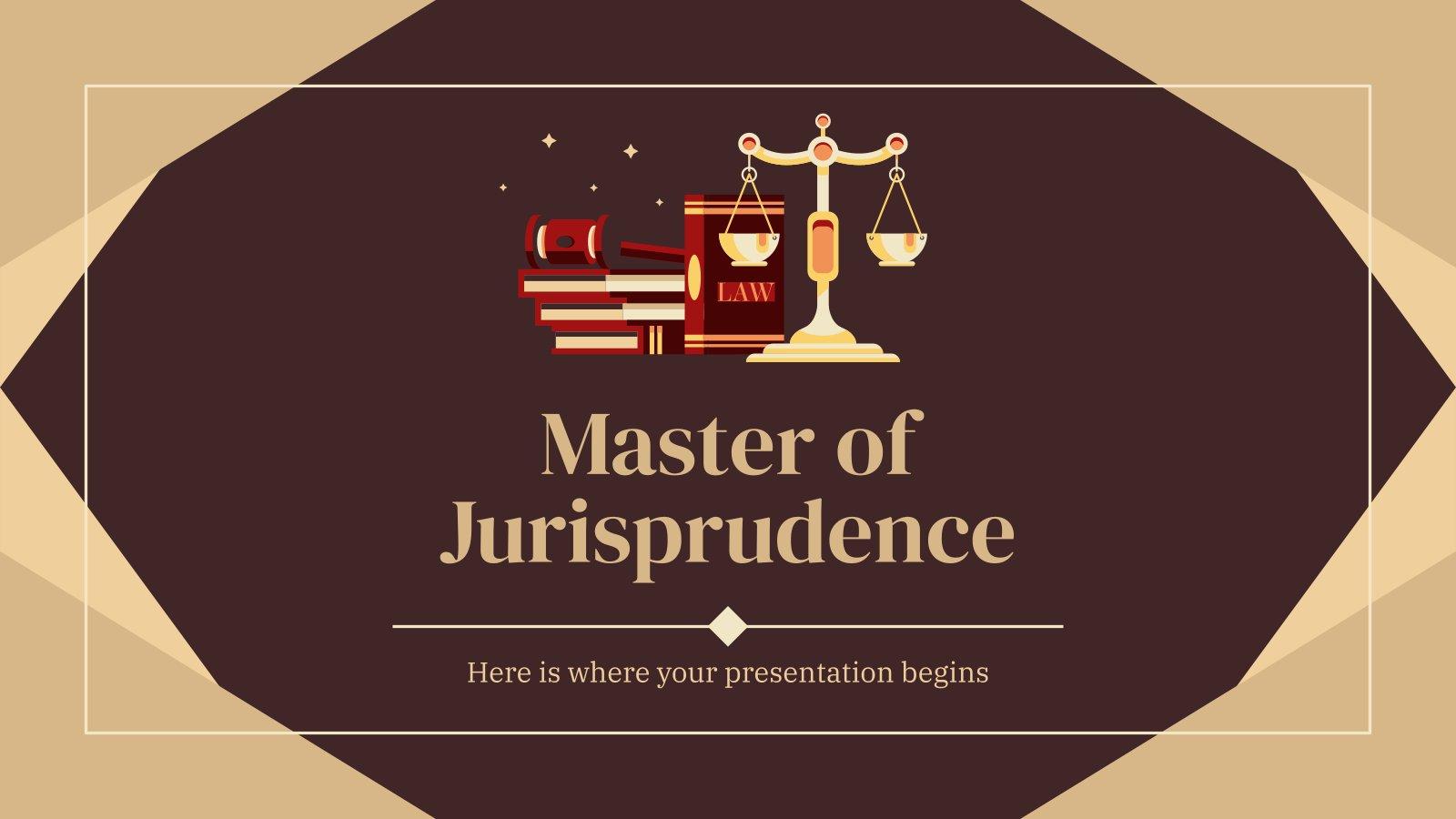 Plantilla de presentación Máster en Jurisprudencia