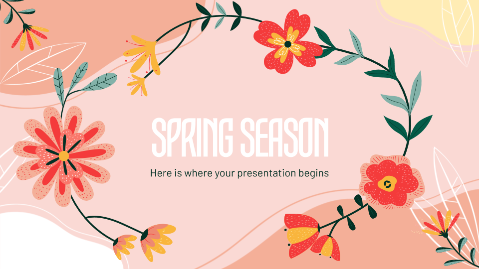 Spring Season presentation template