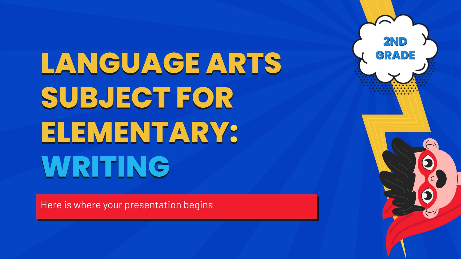 Sprache für die 2. Klasse: Schreiben Präsentationsvorlage