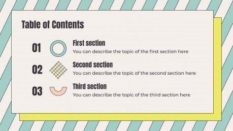 Modelo de apresentação Cores pastéis