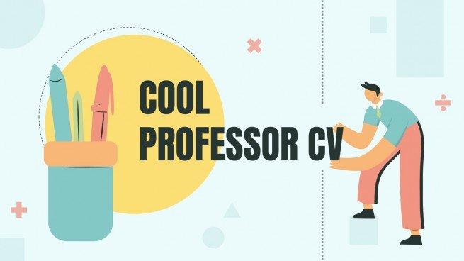 Plantilla de presentación CV colorido para profesores