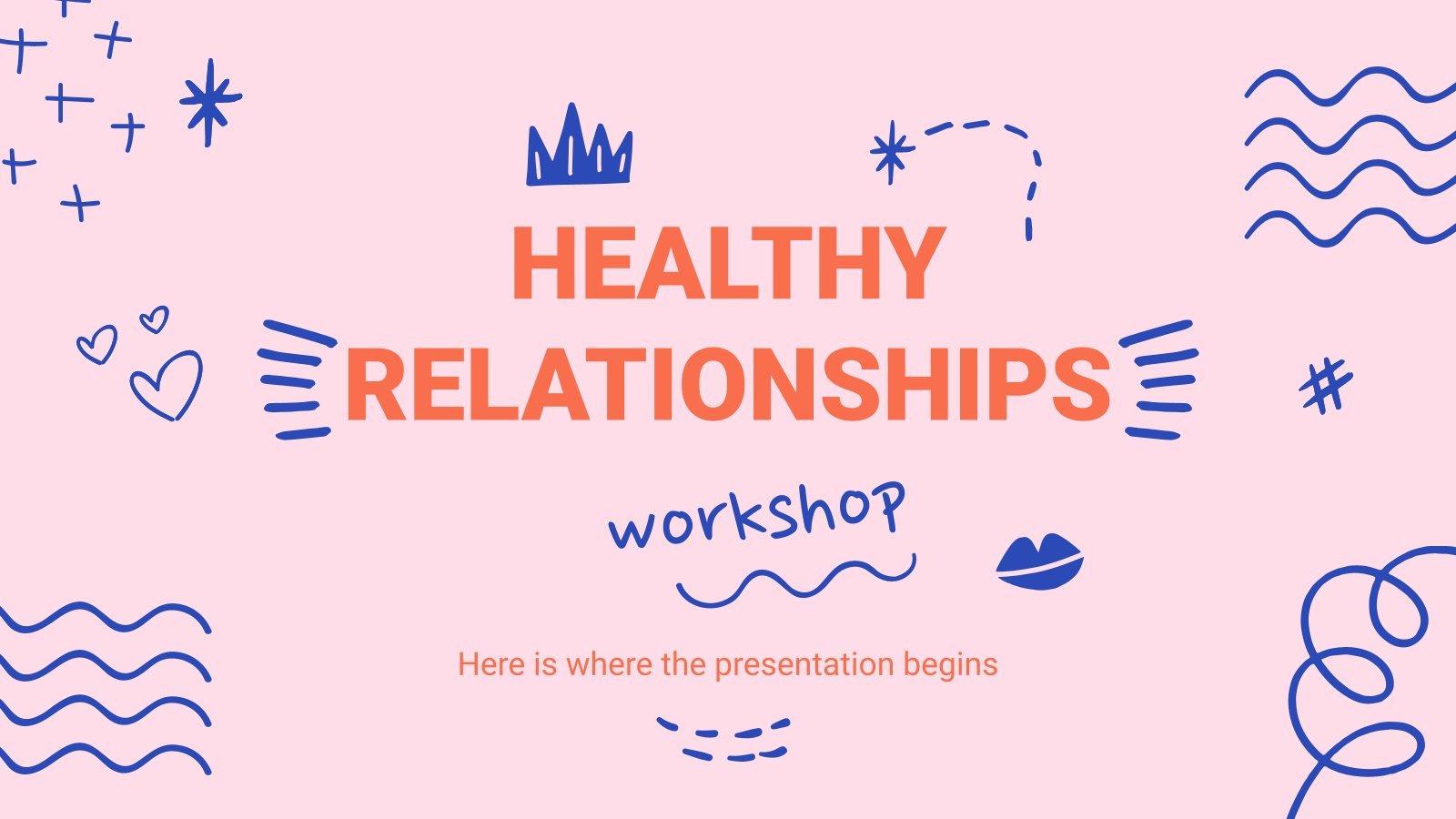 Plantilla de presentación Taller de relaciones sanas